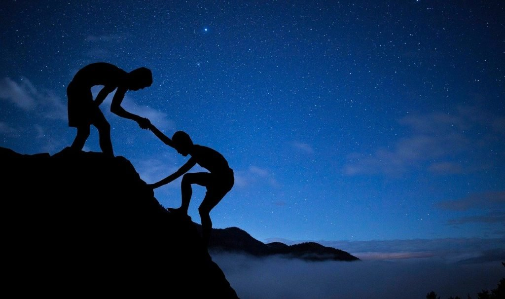 mentor, help, climbing